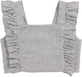Tiny Tribe Stripe Frill Crop Top