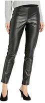 Calvin Klein Faux Leather Front Compression Leggings (Black) Women's Casual Pants