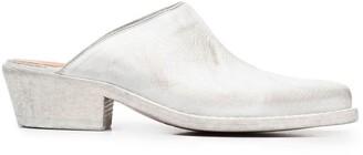 Buttero Block Heel Mules