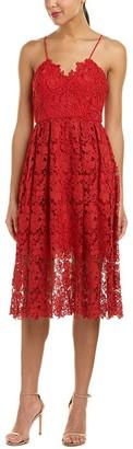 Donna Morgan Women's Chemical Lace Spaghetti Strap Midi Dress