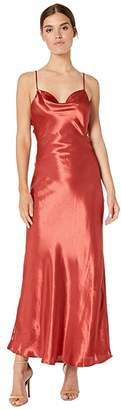 Bardot Estelle Drape Dress (Burnt Red) Women's Clothing