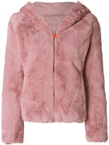 Save The Duck hooded faux fur jacket