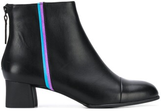 Camper Metallic Trim Ankle Boots