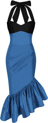 Rasario Ruffled Silk-Taffeta Dress