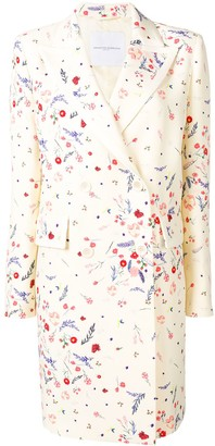 Ermanno Scervino Floral Print Double-Breasted Coat