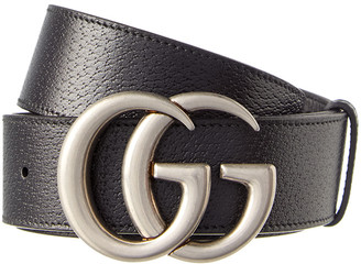 Gucci Double G Buckle Leather Belt