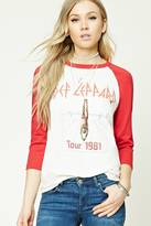 Forever 21 FOREVER 21+ Def Leppard Graphic Tour Tee