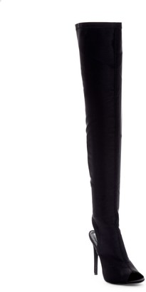 Chase & Chloe Emelia Stretch Metallic Over-the-Knee Boot