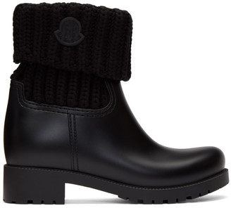 Moncler Black Knit Ginette Boots