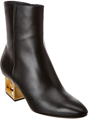 Givenchy Triangular G Heel Leather Ankle Boot