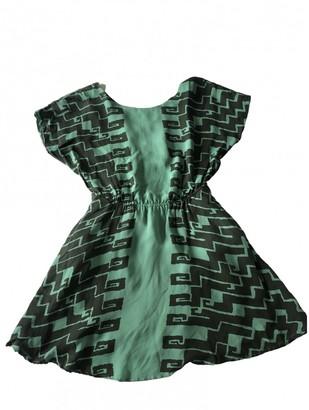 Kelly Wearstler Green Silk Dresses
