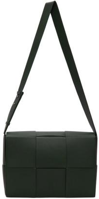 Bottega Veneta Green Maxi Intrecciato Messenger Bag