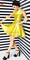 Mac Duggal Shining Rhinestone Fit and Flare Dress