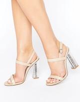 Public Desire Adley Glitter Clear Heeled Sandals
