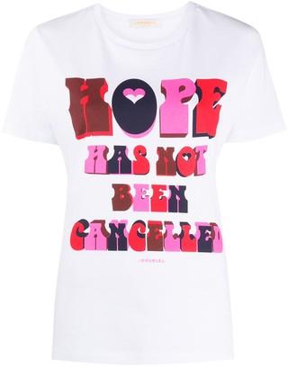 La DoubleJ slogan print T-shirt