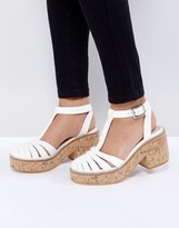 Asos OASIS Cork Platform Shoes