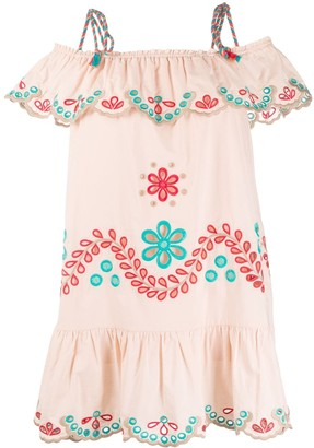 RED Valentino Broderie Anglaise Shift Dress