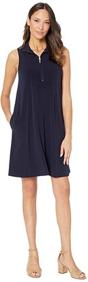 Karen Kane Sleeveless Zip-Up Travel Dress (Navy) Women's Dress