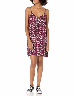 Love, Fire Love Fire Women's Woven Floral Print Slip Dress