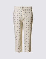 M&S Collection Cotton Rich Cropped Slim Leg Trousers