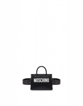 Moschino Mini Shopper With Belt And Chain
