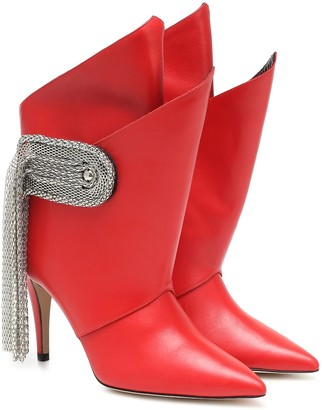 Christopher Kane Fringed leather ankle boots