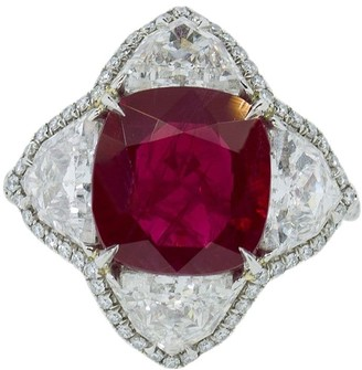 Bayco Platinum Ruby And Diamond Ring