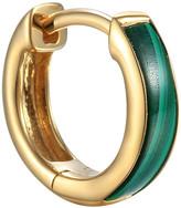 Pamela Love Malachite Inlay Huggie Hoop Single Earring - Yellow Gold
