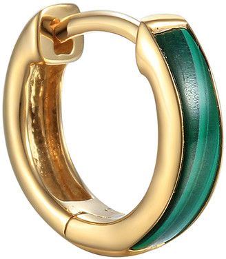 Pamela Love Malachite Inlay Huggie Hoop Single Earring - Yellow Gold