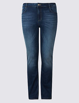 M&S Collection PLUS Ozone Mid Rise Slim Bootcut Jeans