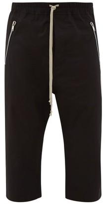 Rick Owens Cropped Cotton-blend Trousers - Black