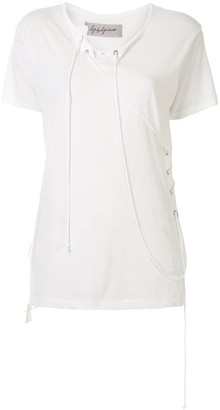 Yohji Yamamoto short sleeve string detail T-shirt