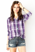 Rails Devyn Plaid Shirt in Purple