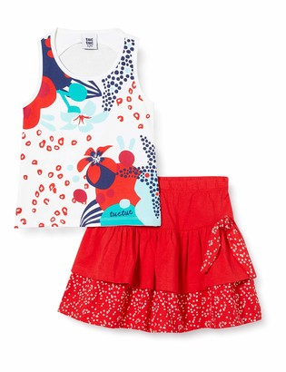 Tuc Tuc RED Ruffles Jersey T-Shirt and Skirt Set for Girl Lost Ocean