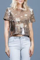 Ark & Co Sequins Crop Top