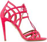Aquazzura 'Ginger' lace-up sandals - women - Leather/Suede - 36
