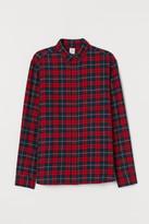 H&M Regular Fit Flannel Shirt - Red