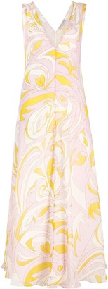 Emilio Pucci abstract-print V-neck dress