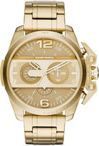 Diesel Men's Chronograph Ironside Gold-Tone Stainless Steel Bracelet Watch 55x48mm DZ4377