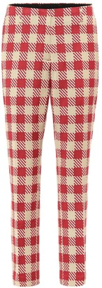 Dries Van Noten Checked cotton pants