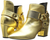 Just Cavalli Low Heel Bootie with Gold Hardware