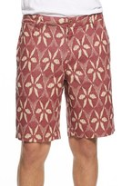 Tailor Vintage Men's Ikat Print Linen Shorts