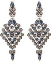 Oscar de la Renta Teardrop Framed Crystal C Earring