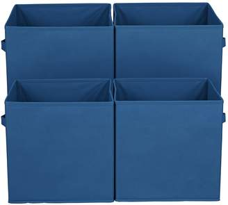 Argos Home Pack of 4 Blue Canvas Boxes