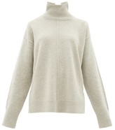 Joseph Roll-neck Oversized Wool Sweater - Womens - Light Grey