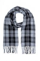 Quiz Grey And Black Check Scarf