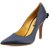 Kay Unger Korrin Pointed Toe Canvas Heels.