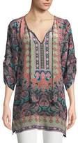 Tolani Ariana Paisley-Print Silk Tunic