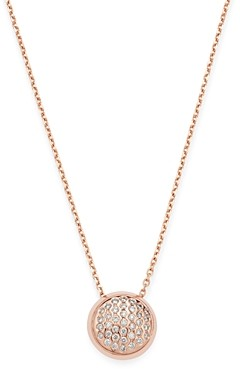 Bloomingdale's Pave Diamond Pendant Necklace in 14K Rose Gold, 0.2 ct. t.w. - 100% Exclusive