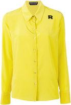 Rochas logo patch shirt - women - Silk - 44